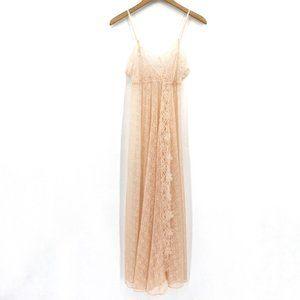 Vintage Glydons Peach Lace Maxi Medium Nightgown